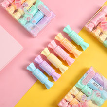 6 шт/компл Милая флуоресцентная ручка в форме конфет кавайная