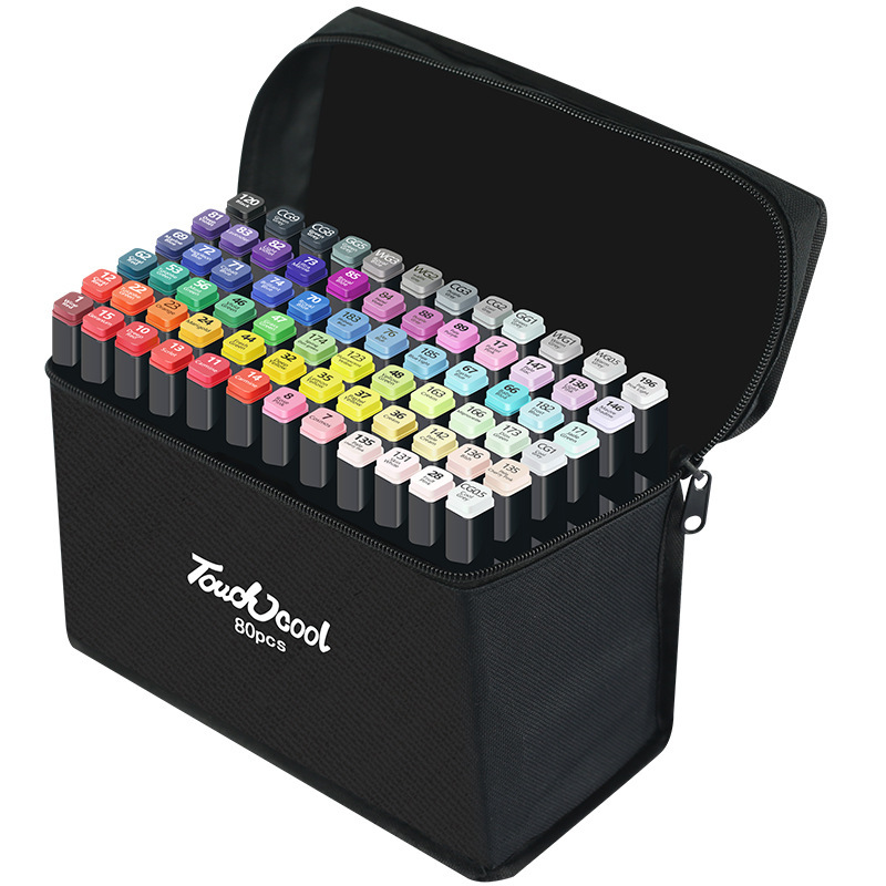 12/24/30/40/60/80 Colors Art Markers Set Artist Sketch Oily Alcohol Based Markers Profession Dual Brush Tip For Drawing  Manga