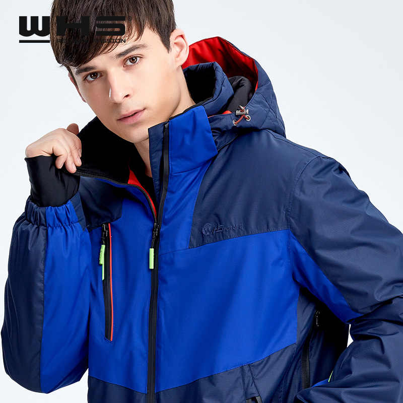 WHS heißer Männer Schnee Ski Jacke Marke Im Freien winddicht wasserdichte mantel Mann schnee kleidung atmungsaktiv sport jacken wandern sportswear