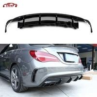 Carbon Fiber Rear Bumper Lip Diffuser For Mercedes Benz CLA Class W117 CLA180 CLA200 CLA250 CLA260 CLA45 2016 2018 Car Styling