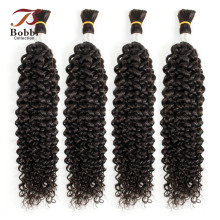 Bobbi коллекция кудрявые волосы объемные человеческие волосы для плетения натурального цвета индийские не Реми человеческие волосы для плетения объемное наращивание