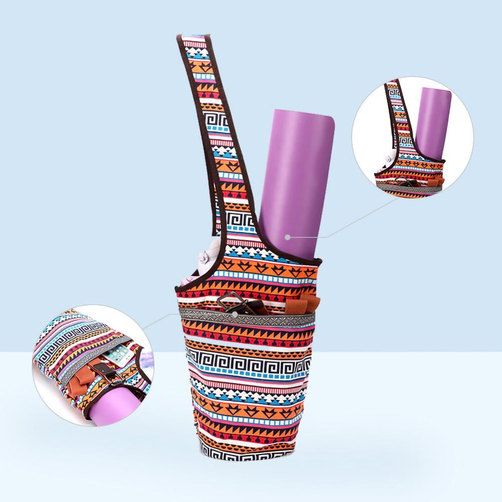 Женская холщовая сумка для Йоги (84×33 см/6 цветов) с карманами