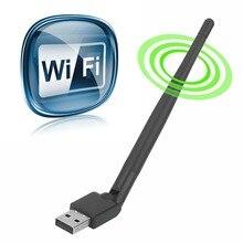 цена на USB 2.0 150Mbps WiFi Antenna MTK7601 Wireless Network Card  802.11b/g/n LAN Adapter with rotatable Antenna