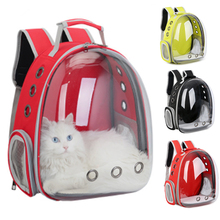 Portable Beautiful Breathable Pet Carrier Bag Outdoor Travel Puppy Cat Transparent Space Backpack Capsule