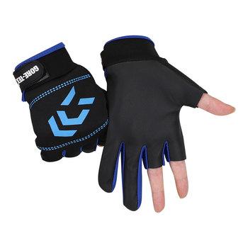 1 para rękawice wędkarskie mężczyźni kobiety odkryty wędkarstwo antypoślizgowe 3 Cut Finger sport sprzęt rybny wędkarskie rękawice SBR tanie i dobre opinie elenxs CN (pochodzenie) DJ1107 Anti-Slip Trzy Wyciąć Palec Fishing Gloves Fish Equipment Free size
