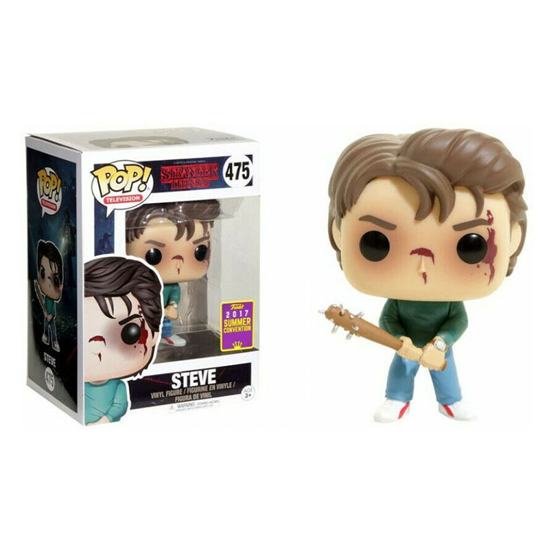 FUNKO POP Stranger Things  Vinyl Figure New #475 Steve Collection Action Figure Model Vinyl Doll Toys Limited Edition Gifts
