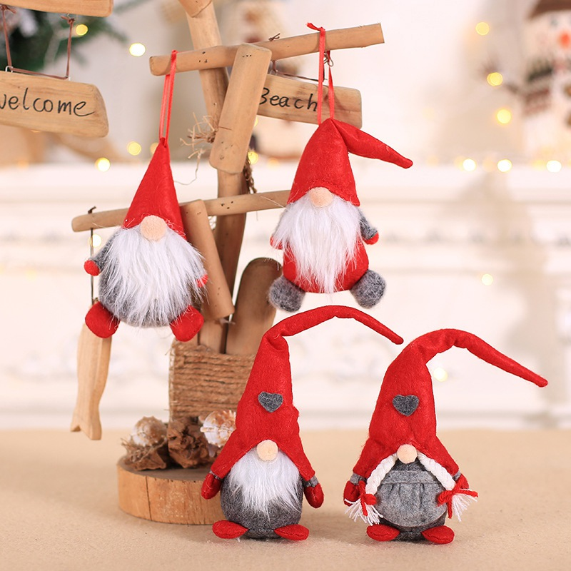 Handmade Long Hat Swedish Stuffed Gnome Toy Santa Doll Gnome Nordic Home Ornaments Christmas Santa Gift Decoration for Home(China)