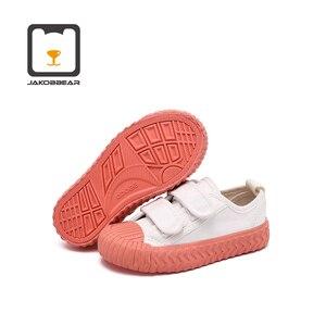Image 3 - Детские парусиновые кроссовки JAKOBBEAR, повседневная обувь для девочек и мальчиков, садовые кроссовки