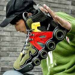 2020 neue Männer Schuhe In männer Casual Schuhe Turnschuhe Mann Freizeit Mode Bequeme Schuhe Erwachsenen Männlichen Schuhe Flock Hohe-top Schuhe