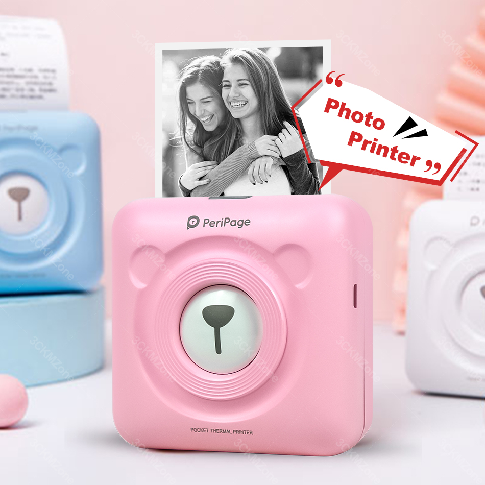 Draadloze Draagbare Thermische Bluetooth Printer Mini Foto Pocket Printer Voor Mobiele Android Ios Telefoon 58 Mm Pocket Machine