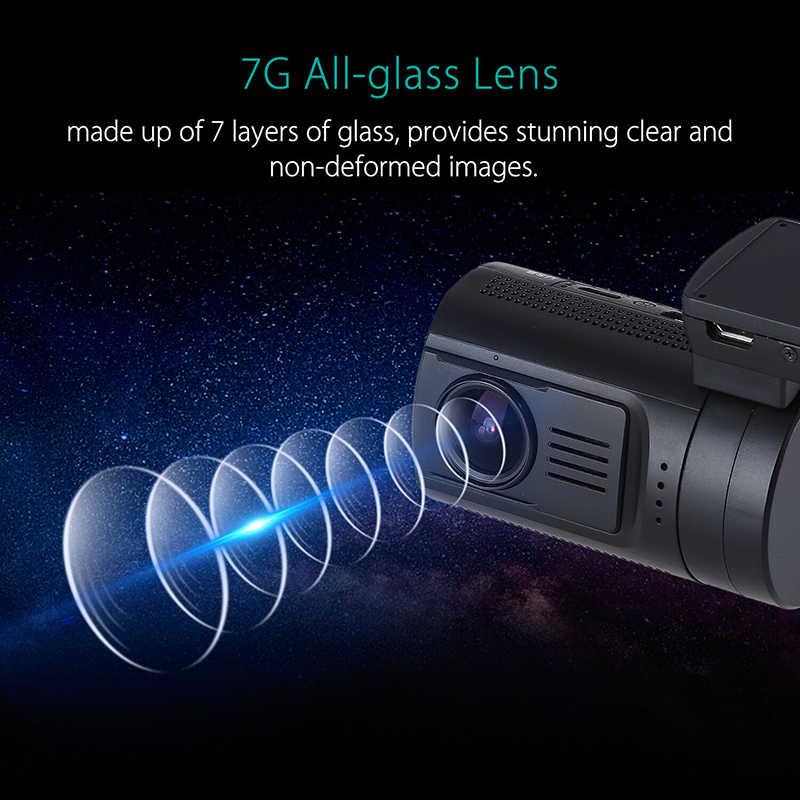 Blueskysea Mini 0906 Pro Dual 1080P Ống Kính WIFI GPS Táp Lô Xe Ô Tô Máy Ảnh Sony IMX327 Ghi Hình Vòng Lặp Tầm Nhìn Ban Đêm RF bộ Điều Khiển Từ Xa