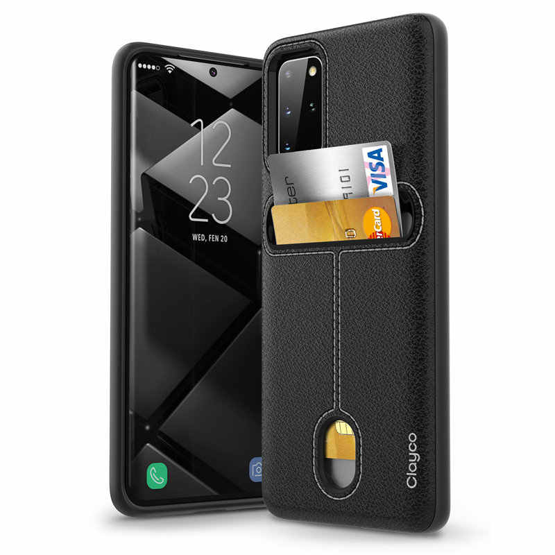 Clayco Cache Series Designed For Samsung Galaxy S20 Plus Case / S20 Plus 5G Case (2020 Release) with Card Holder