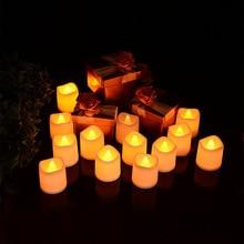 Модель пламя светодиодный электрическая лампа 24-х бытовой Отель декоративная свеча маленький ночник