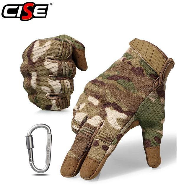 Touch Screen รถจักรยานยนต์ Full Finger ถุงมือ Motocross Camouflage Breathable ป้องกันเกียร์รถจักรยานยนต์ Racing Hard Knuckle ขับรถ