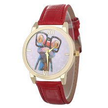 Funny Frog Pattern Classic Luxury Fashion Leather Strap Cheap Women Quartz