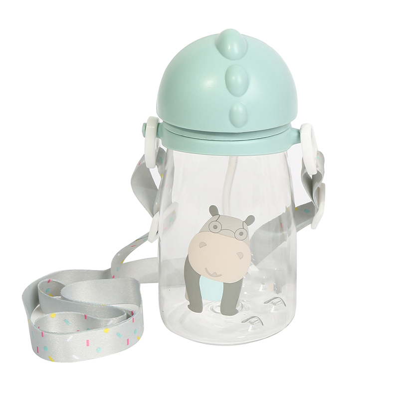 400ML <font><b>Baby</b></font> Straw Bottle Drinking Feeding Cup Portable Nipple Bottle Flip Lid <font><b>Baby</b></font> Leak-<font><b>poof</b></font> Plastic Sippy Cup image