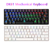 DK61 Wireless Bluetooth Mechanical Keyboard USB Wired Keyboard Blue Switch 61 Keys RGB Backlit Keyboard for Windows Mac Android mini bluetooth remote keyboard for windows mac os linux android google smart tv backlit keyboard convenient operation in dark