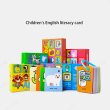 Childrens literacy card English 0-3-6 years old baby early education puzzle memory cognitive words flash