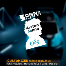 Car Sticker and decals 3D Ayrton Senna Funny car Stickers Vinyl 3d car sticker black/white size 17cm*11.2cm 5 styles forever senna sempre ayrton car stickers motorcycle helmet phone sticker decals reflective moto gp driver