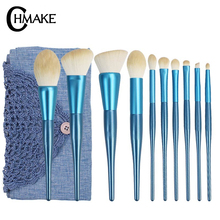 CHMAKE 10pcs Makeup Brushes Set Professional Cosmetic Powder Eyeshadow Contour Foundation Make Up Brush Kit goat Hair