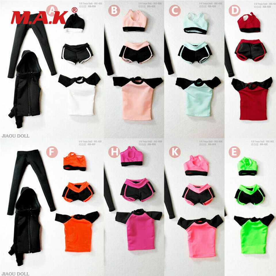 1//6 Female Yoga Set Sports Wear Clothes Model Fit 12/'/' Figure Body Accessories