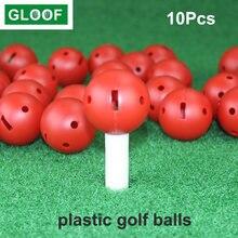 10 шт/компл тренировочные мячи для гольфа 17 дюйма ПЭ пластиковые