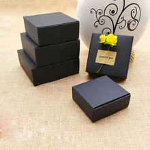 50pcs Black Craft Kraft Paper Box black Packaging Box Wedding Party Small Gift Candy Jewelry Package Boxes For Handmade Soap box(China)