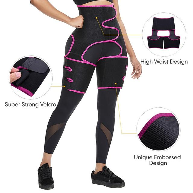WAIST SECRET Woman Sweat Thigh Trimmers Leg Shaper Fajas Neoprene Slimming Belt Control Panties Fat Burning Wraps Thermo Belt 2