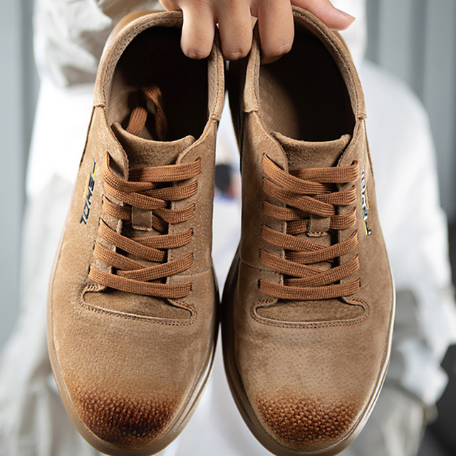 38~45 men safety shoes Anti smashing Wilderness Survival steel toe Anti slip men work boots #KDDK601