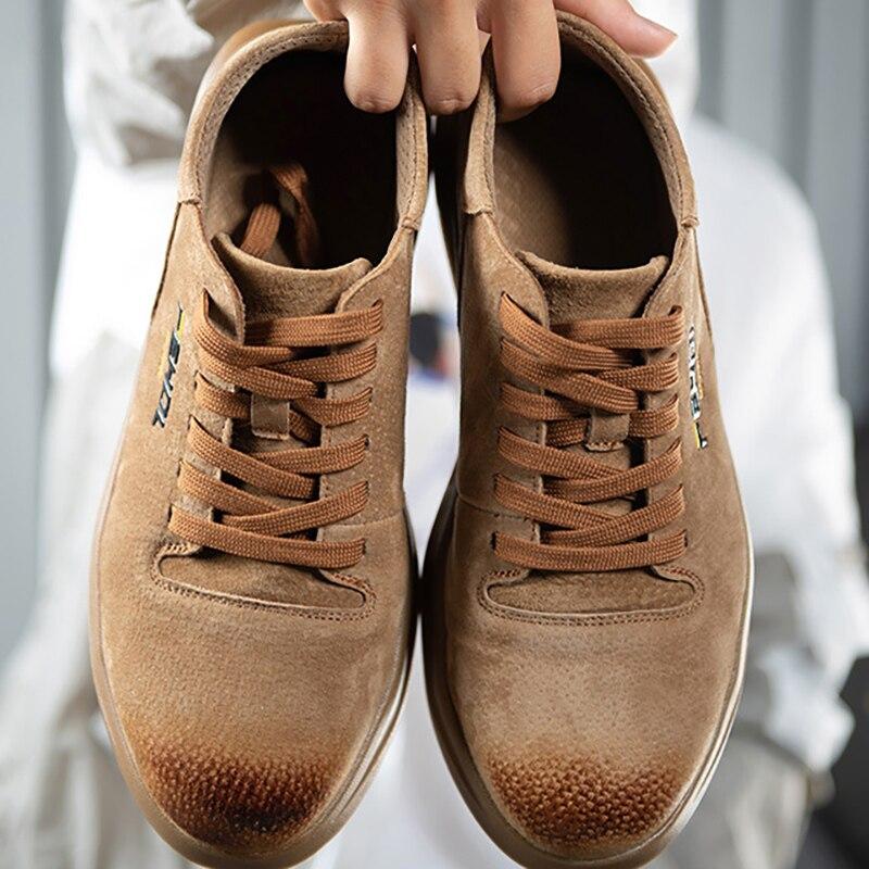 38 45 мужская защитная обувь, противоскользящие мужские рабочие ботинки для выживания в пустыне со стальным носком # KDDK601Защитная обувь   -