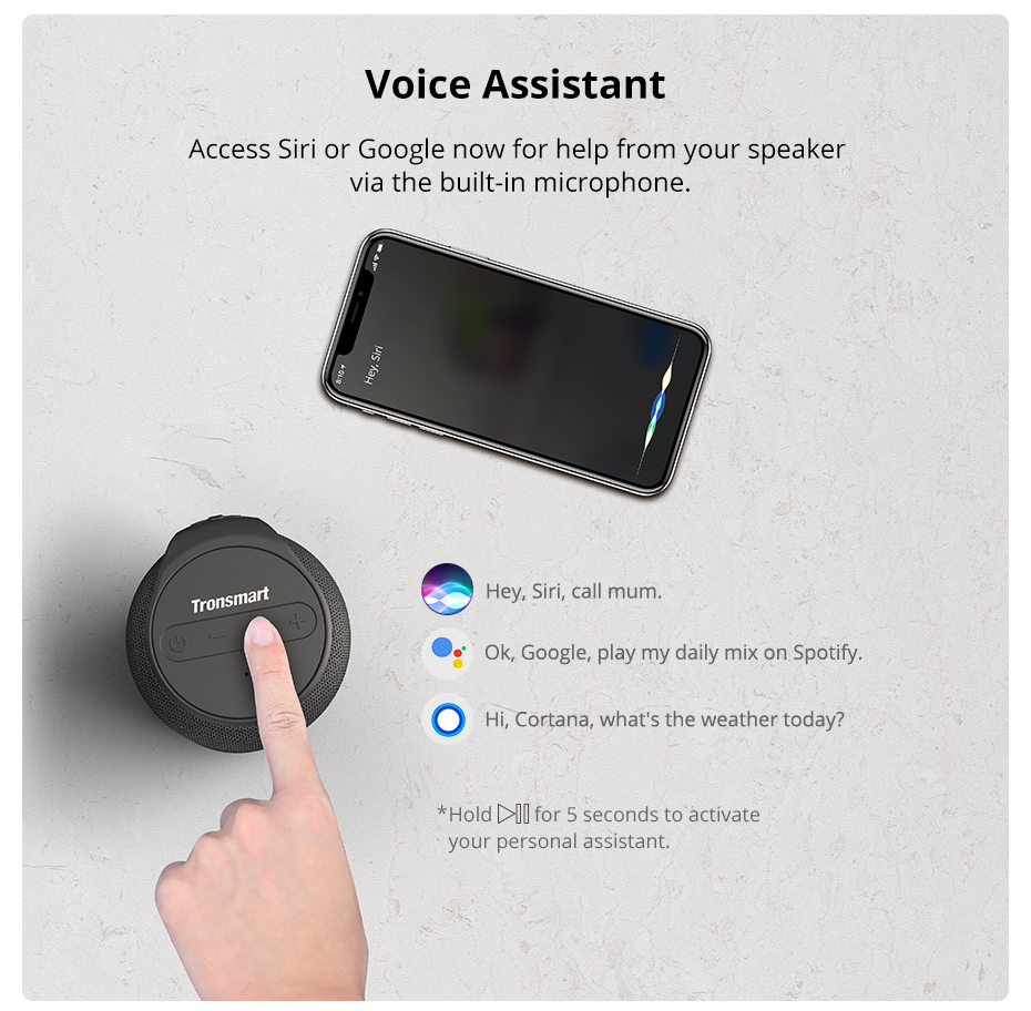 Tronsmart T6 Mini Bluetooth Speaker TWS Speakers IPX6 Waterproof Wireless Bluetooth 5.0 Speaker 24 Hours Play-time Portable Speaker with 360 Degree Surround Sound, Voice Assistant (11)