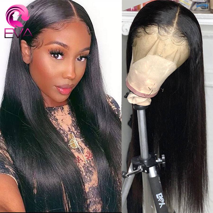 Eva Hair 13x6 Lace Front Human Hair Wigs Pre Plucked With Baby Hair Brazilian Straight Lace Front Wigs For Black Women Remy Hair