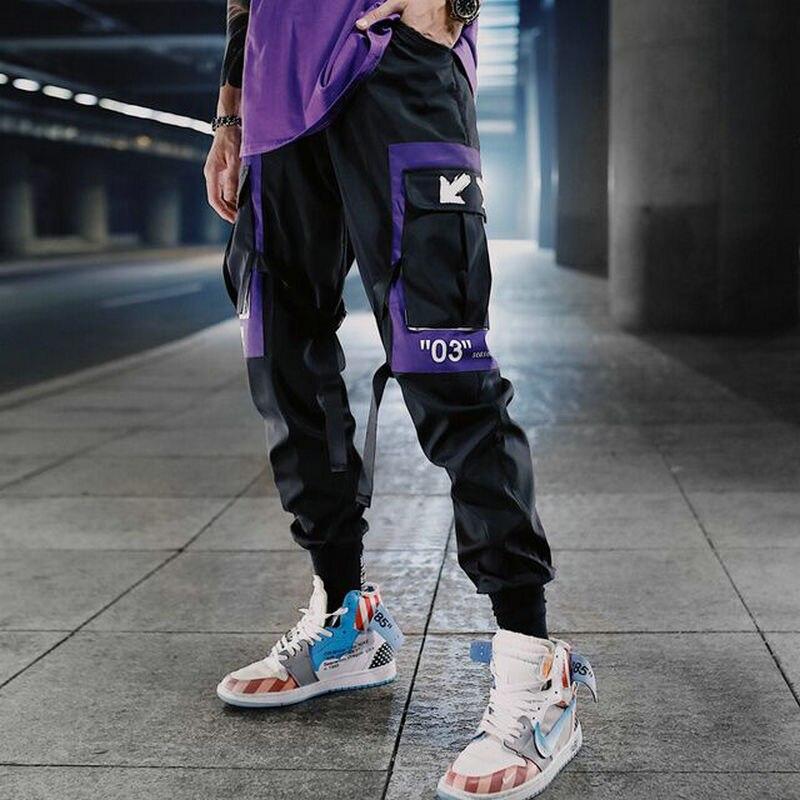 Streetwear Men Multi-pocket Hip Hop Harem Pants Trousers Sweatpants Hombre Male Casual Cargo Pants Men Jogger Pants 2020 New