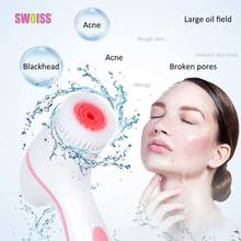SWOISS Electric Face Cleansing Brush Pore Cleaner Dual Mode