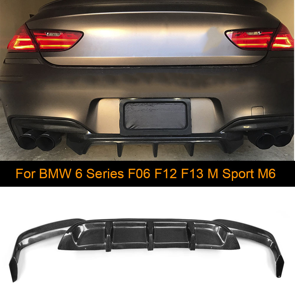 Carbon Fiber Car Rear Bumper Diffuser for BMW F06 F12 F13 640i 650i M6 M Sport M Tech Bumper 2012 - 2016 Car Spoiler