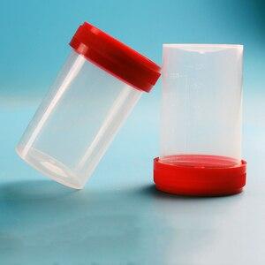 Image 2 - 50 Pcs 40ml 60ml Sterile ถ้วยปัสสาวะคอนเทนเนอร์สกรู Cap