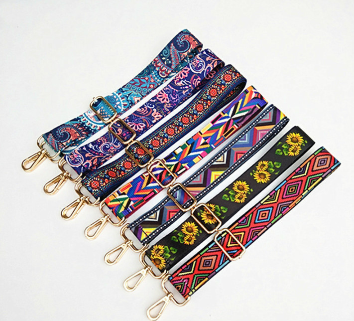 Nylon Bags Strap Belt Adjustable Shoulder Hanger Handbag Straps Multicolor Accessories Women Chain Colored Bag Sraps Decorative