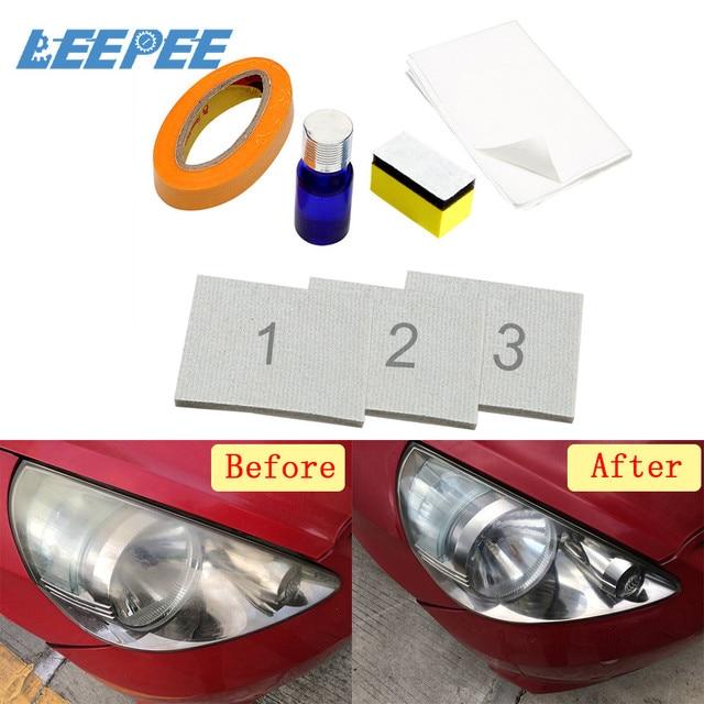 DIY zestaw do renowacji reflektorów reflektor rozjaśniacz polerowanie przywraca klarowność Anti scratch ochronna UV na reflektor samochodowy obiektyw