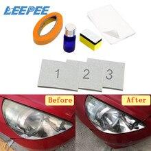 Kit de restauração do farol diy brightener polimento restaura clareza anti risco uv proteção para lente do farol do carro