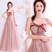N розовые с открытыми плечами Роскошные вечерние, индивидуальный пошив, размеры Для женщин красной ковровой дорожки Свадебные Вечернее формальное платье для леди мешок большой Размеры 5xl 6xl