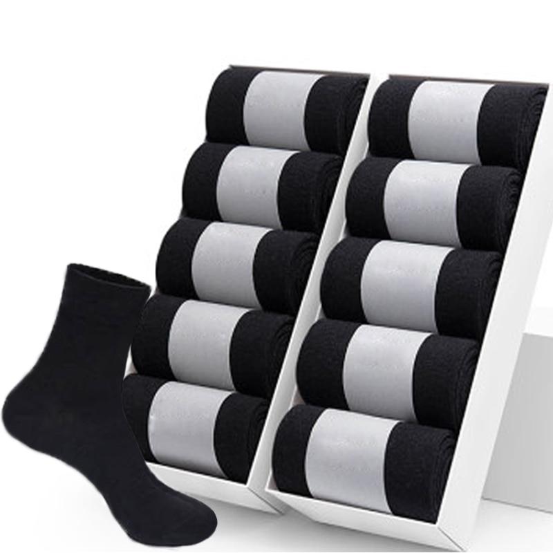 10 пар/лот, высокое качество, мужские хлопковые носки черные носки в деловом стиле из дышащего материала 2021 Новый осень-зима мужской подарок ...