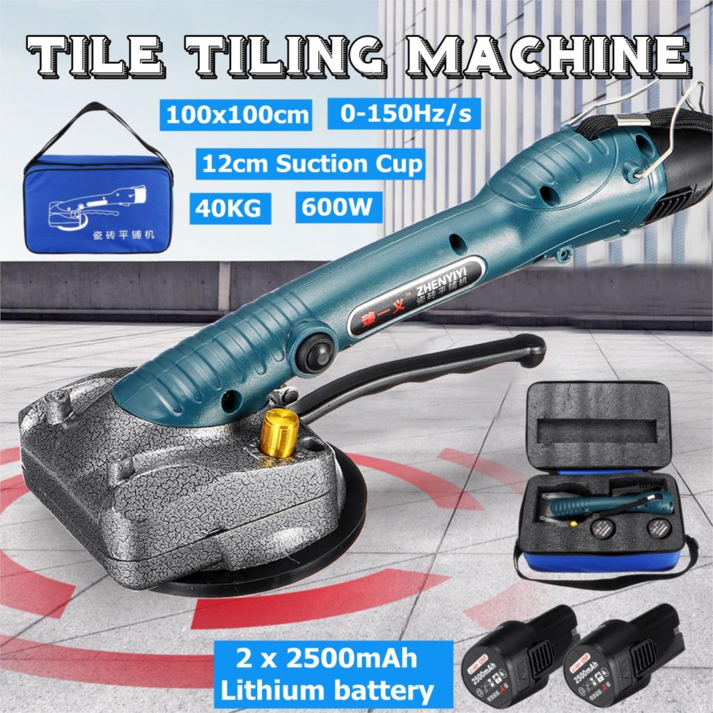 40kg 2500mAh 600W Tile Tiling Machine Adjustable Floor Installation Tool Tile Suction Floor Wall + 1/2 Battery +Bag
