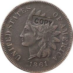 1861 копия монеты в индийском стиле