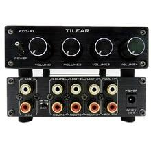 HIFI Lossless 1 Ingresso 4 Uscita RCA HUB Audio Distributore di Selettore di Segnale Sorgente Interruttore Switcher di Tono Del Volume Per Amplificatore di Bordo