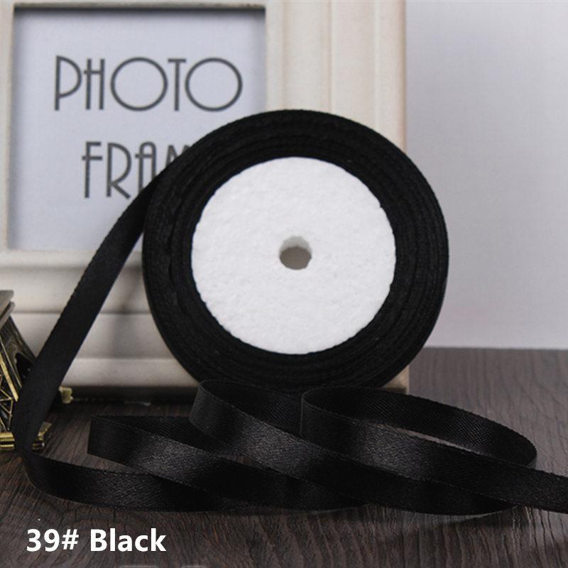 25 ярдов/рулон 6 мм 10 мм 15 мм 20 мм 25 мм 40 мм 50 мм шелковые атласные ленты для рукоделия бант ручной работы подарочная упаковка вечерние свадебные декоративные