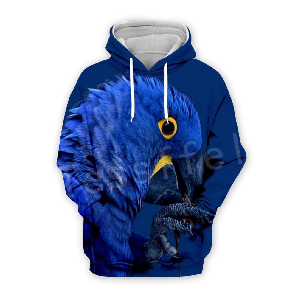 Tessffel Animal Parrot Unisex Colorful Funny NewFashion Tracksuit Harajuku 3DPrint Zipper/Hoodies/Sweatshirt/Jacket/Men/Women 13