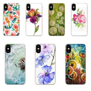 TPU Best Cases For Samsung Galaxy Note 8 9 10 Pro S4 S5 S6 S7 S8 S9 S10 S11 S11E S20 Edge Plus Ultra Watercolor Flower Dandelion