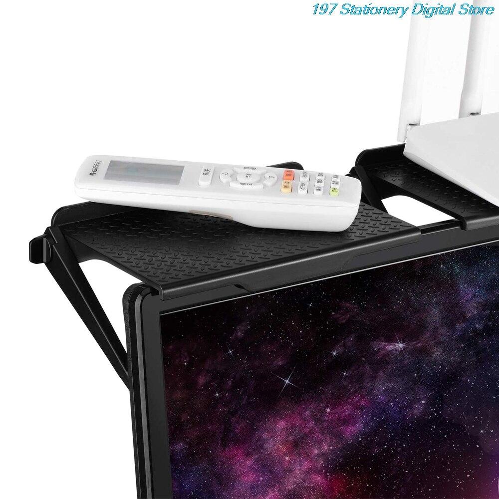 Desktop Organization TV Top Storage Shelf Holder Practical Home Computer Monitor Screen Rack Office Multi-Functional Organizer
