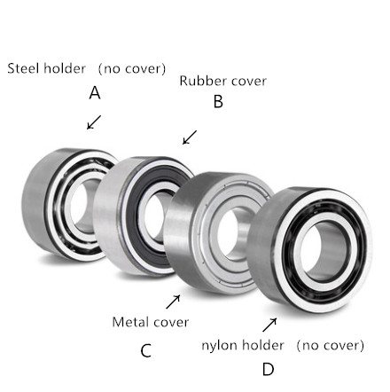 <font><b>688</b></font>-<font><b>2RS</b></font> 688ZZ F688ZZ miniature double sealing cover size 8mm*16mm thickness 4mm or 5mm deep groove ball <font><b>bearing</b></font> image