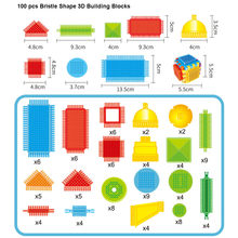 Yaratıcı 100 adet kıl şekli 3D yapı taşları fayans inşaat Playboards oyuncaklar ebeveyn-çocuk interaktif eğitici oyuncaklar
